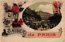 CPA Un Baiser de Paris 9e - Bd des Italiens (301886)