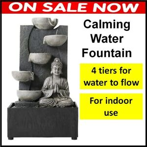 Calming Indoor Water Fountain Feature Ornament Home Yoga Office Decor Soothing