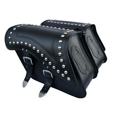 MOTORCYCLE LEATHER SADDLEBAGS PANNIERS YAMAHA XV750 1100 VIRAGO XVS650 C29B