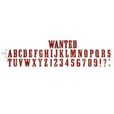 Sizzix Stanze Decorativ Strip Alphabet dies Wanted Alphabet 658554