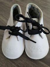 Mothercare white leather first baby shoes size  up to 6 months