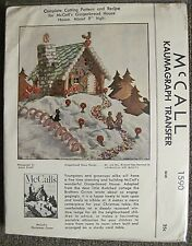 Vintage 1950 McCall's Gingerbread House Kaumagraph Transfer Pattern