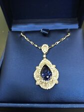 Pendant Necklace - Synthetic Sapphire