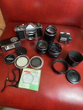 Pentax Asahi SV SLR Camera Body + 3 Lenses + Filters (Camera For Parts)