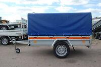 PKW-Anhänger mit Plane 110cm   750 kg  205cm  EXTRABREITE 125cm Kastenanhänger
