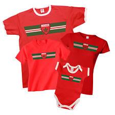 MOROCCO Patriotic Fan Kit Retro Strip T-Shirt Football MENS LADIES KIDS BABY