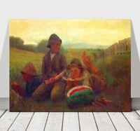 "WINSLOW HOMER - The Watermelon Boys - CANVAS ART PRINT POSTER - 32x24"""