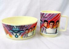 Vintage Original Star Trek Enterprise Deka Cereal Bowl & Mug The Motion Picture
