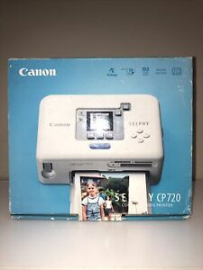 Canon SELPHY CP720 Digital Photo Thermal Printer Complete in box.