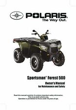 Polaris Owners Manual Book 2011 SPORTSMAN Forest 500