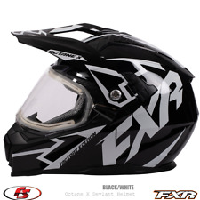 New 2020 FXR OCTANE X DEVIANT Snowmobile HELMET Black/White LG Electric Shield