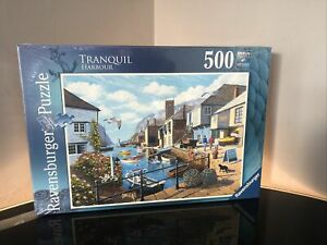 NEW! Ravensburger Tranquil Harbour by Stephen Cummins 500 piece jigsaw puzzle