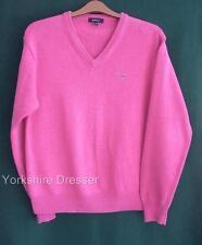 "GANT Pink Cotton Knit V-Neck Top Jumper - Mens Medium 40-42"" Chest -Ladies Uk 14"