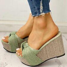Summer Sandal Wedge Slip On Leisure Platform High Heel Women Shoe Mule Flip Flop