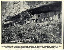 Fluhhaus bei Krauchthal Burgdorf Kt.Bern Historische Aufnahme von 1908