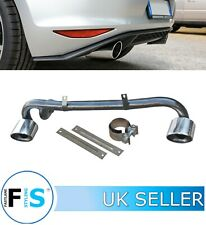 VW POLO GTI DUAL STAINLESS STEEL EXHAUST SYSTEM OVAL CHROME TAILPIPES 15+