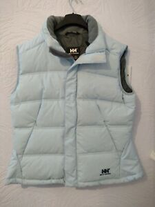HELLY HANSEN Ladies Down And Feather Blue Gilet Body Warmer Size L jacket