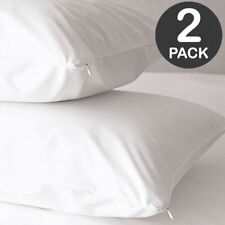 Zipped PU Waterproof Pillow Protector Breathable Wipe Clean Various Sizes
