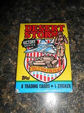 Topps Desert Storm trading cards Victory series wax pack 1991 sealed! 2nd series