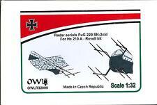 Owl Decals 1/32 HEINKEL He-219A-0 RADAR AERIALS FuG 220 SN-2c/d