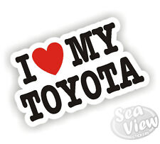 I Heart Love My TOYOTA YARIS Supra Celica Corolla Mr2 Car Van Sticker Decal