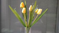 YELLOW TULIPS ARTIFICIAL SPRAY 7 FLOWERED STEM