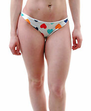 Wildfox Women's Brazilian Vintage Heart Bikini Bottom Multi-Color RRP £65 BCF65