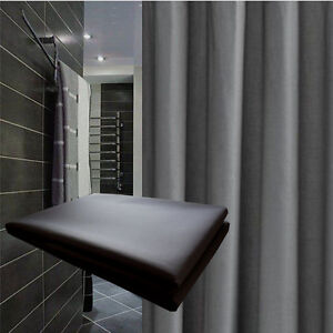 Solid Grey Shower Curtain 210x200 New Free Shipping