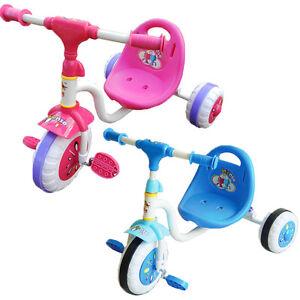 Kids Toddler Baby Tricycle Ride On Toys Bike Blue & Pink Anti-skid Wheels