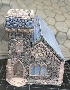 15 mm European Norman Village Church Unpainted building miniature