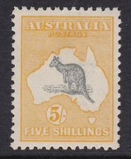 1917 5/- Grey and Chrome Kangaroo, 3rd wmk, MLH
