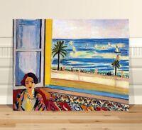 "Matisse Lady at Open Window ~ FINE ART CANVAS PRINT 24x18"""
