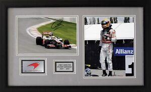 Lewis Hamilton McLaren F1 signed ( framed set )