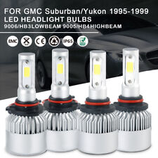 4x 8000LM LED Headlight 9005 9006 High Low Beam For GMC Suburban/Yukon 1999-1995