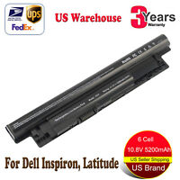 Battery for Dell Inspiron 15-3521 15 3000 15-3537 15-3541 15-3542 5200mah 6 Cell