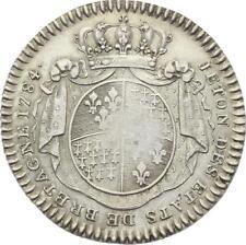 O3742 Jeton Louis XVI Etats Bretagne Rennes 1784 Argent Silver ->Faire offre