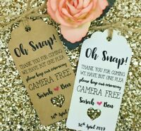 Unplugged Wedding Gift Tag Guest Label Favour Kraft, Personalised