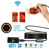 Q98 1200p WiFi Endoskop Wasserdicht 8mm USB Inspektion Kamera PC MAC Smartphone