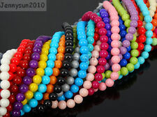 Czech Opaque Coated Glass Pearl Round Beads 15.5'' 4mm 6mm 8mm 10mm 12mm 14mm