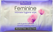 48x Feminine Intimate Hygiene Cleansing Wipes Individually Wrapped Women's
