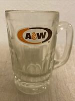 "Vintage A&W Root Beer Mug Snoopy Peanuts 6"" Heavy Glass Handle 12 oz Large"