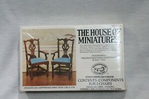 NEW  The House of Miniatures Straight Leg Chippendale Chair 40029