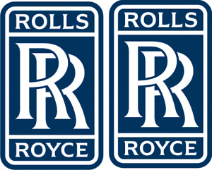 "ROLLS ROYCE x 2 ... Dark Blue ...100 x 60mm / 4"" x 2.5"""