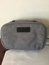 LAB SERIES Gray faux dopp kit pouch toiletry case bag cosmetic travel