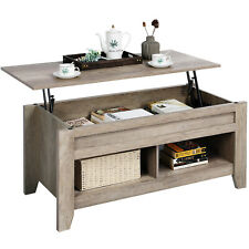 Lift Top Coffee Table w/Hidden Storage Compartment Open Shelf for Living Room