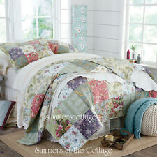 3PC KING QUILT SET MULBERRY COTTAGE FARMHOUSE FRENCH COUNTRYSIDE & PILLOW SHAMS