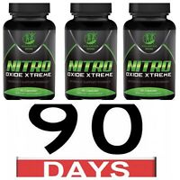 3X NITRIC OXIDE L-ARGININE Build Muscle Pump Extreme 60 CAPS 1600 MG Work Out