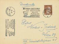 """DEUTSCHES REICH 1942, """"DARMSTADT 2 /19.7.42 / SCHWIMM-LÄNDERKAMPF / DEUTSCHLAND"""