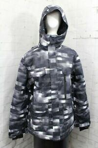 686 Infinity Insulated Snowboard Jacket Mens Large, Glitch (Black/White) New