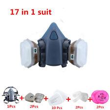 17 in 1 3M7502/2091/6001/5N11/501 Reusable Respirator Painting Spraying Gas Mask